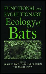Cover of: Functional and evolutionary ecology of bats |