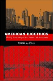 Cover of: American Bioethics