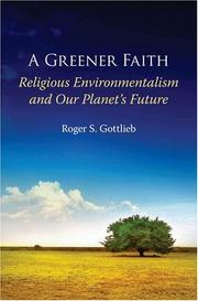 Cover of: A greener faith | Roger S. Gottlieb
