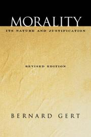 Cover of: Morality | Bernard Gert