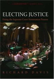 Cover of: Electing justice