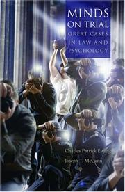 Cover of: Minds on trial | Charles Patrick Ewing
