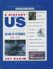 Cover of: A History of US: California Edition Book Eight