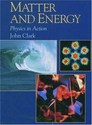 Cover of: Matter and energy