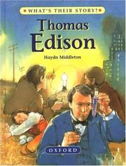 Cover of: Thomas Edison
