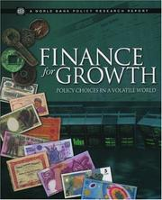 Cover of: Finance for Growth