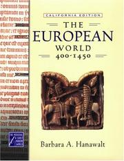 Cover of: The European world, 400-1450