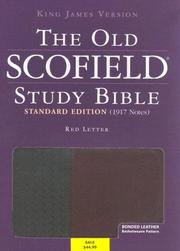 Cover of: The Old ScofieldRG Study Bible, KJV, Standard Edition |