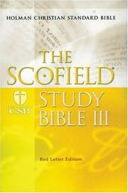 The ScofieldRG Study Bible III, HCSB