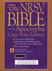 Cover of: The New Revised Standard Version Bible, Large Print Edition |