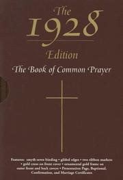 Cover of: The 1928 Book of Common Prayer |