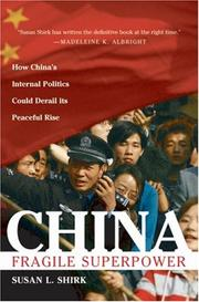 Cover of: China: Fragile Superpower