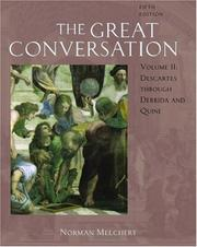 Cover of: The Great Conversation: A Historical Introduction to Philosophy Volume II | Norman Melchert