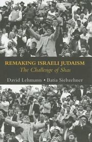 Cover of: Remaking Israeli Judaism