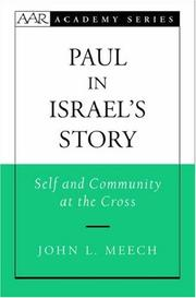 Cover of: Paul in Israel's story