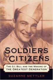 Cover of: Soldiers to Citizens | Suzanne Mettler