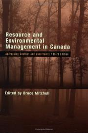 Cover of: Resource and environmental management in Canada