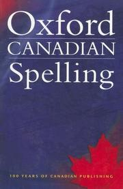 Cover of: Oxford Canadian Spelling |