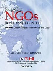 Cover of: Managing NGOs in Developing Countries: Volume One | Zafar Iqbal Qureshi