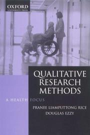 Cover of: Qualitative research methods | Pranee Liamputtong