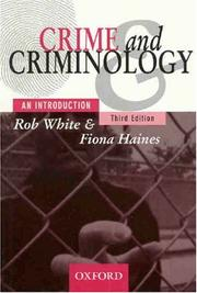 Cover of: Crime and criminology