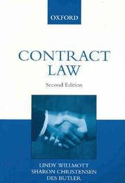 Cover of: Contract Law | Lindy Wilmott