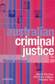 Cover of: Australian criminal justice