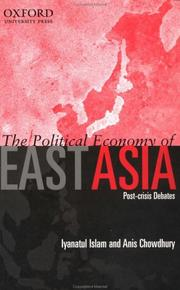 Cover of: The Political Economy of East Asia: Post-Crisis Debates