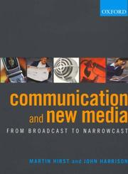 Cover of: Communication and new media