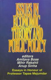 Cover of: Issues in economic theory and public policy |