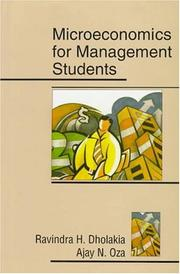 Cover of: Microeconomics for management students | Ravindra H. Dholakia