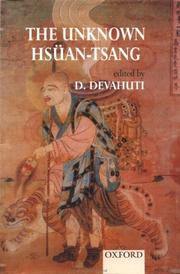 Cover of: The Unknown Hsuan-Tsang