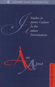 Cover of: Studies in Islamic culture in the Indian environment