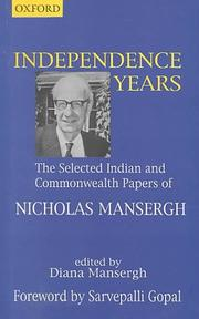 Cover of: Independence years
