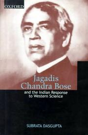 Cover of: Jagadis Chandra Bose, and the Indian response to Western science
