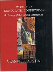 Cover of: Working a Democratic Constitution | Granville Austin