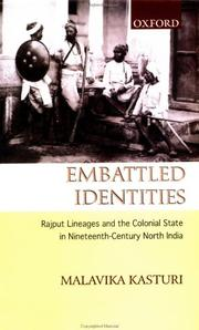 Cover of: Embattled identities | M. Kasturi