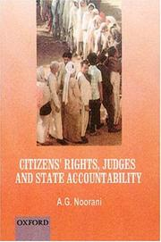 Cover of: Citizens' rights, judges and state accountability