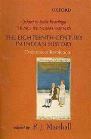 Cover of: The eighteenth century in Indian history |