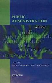 Cover of: Public Administration |