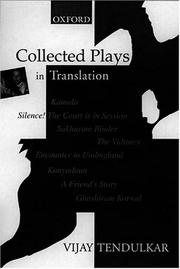 Cover of: Collected plays in translation