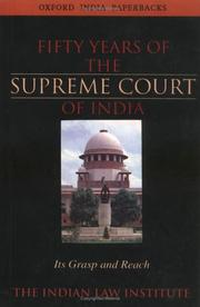 Cover of: Fifty Years of the Supreme Court of India |