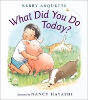Cover of: What did you do today?
