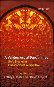 Cover of: A wilderness of possibilities |