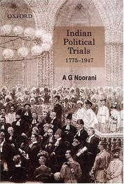 Cover of: Indian political trials, 1775-1947