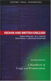 Cover of: Indian and British English | Paroo Nihalani