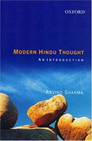 Cover of: Modern Hindu Thought | Arvind Sharma