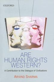 Cover of: Are Human Rights Western?: A Contribution to the Dialogue of Civilizations