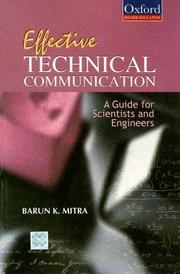 Cover of: Effective Technical Communication | Marun K. Mitra
