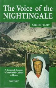 Cover of: The Voice of the Nightingale | Sabine Felmy